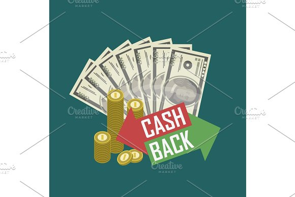 Cash Back Concept With Money