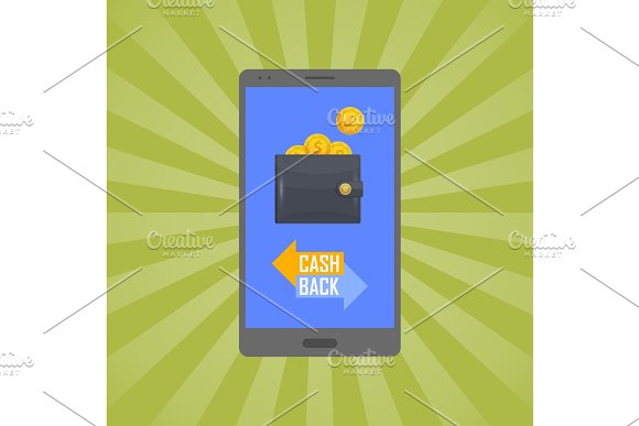 Cash Back Concept With Man Leather Wallet