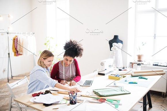 Young Creative Women In A Studio Startup Business
