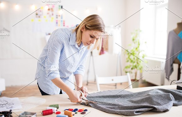 Young Creative Woman In A Studio Startup Business