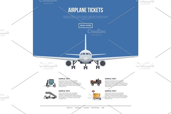 Commercial Airlines Poster With Jet Airplane