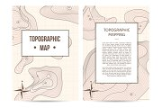 Topographic mapping company banners set