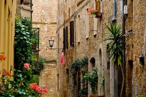 Town of Pienza in Tuscany, Italy