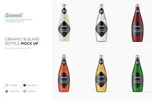 Glass & Ceramic Bottle- 6 PSD Mockup