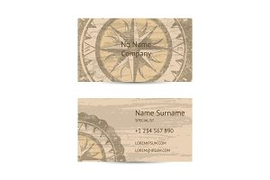 Travel agency business card layout