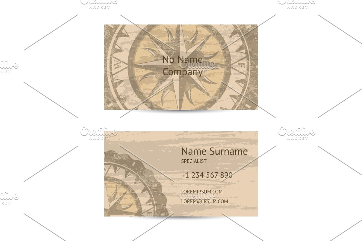 Travel agency business card layout in Illustrations - product preview 8