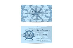 Nautical company business card layout