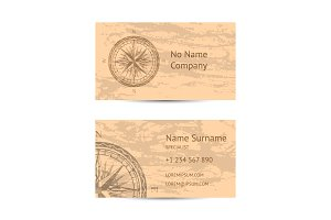 Sailing tour business card layout