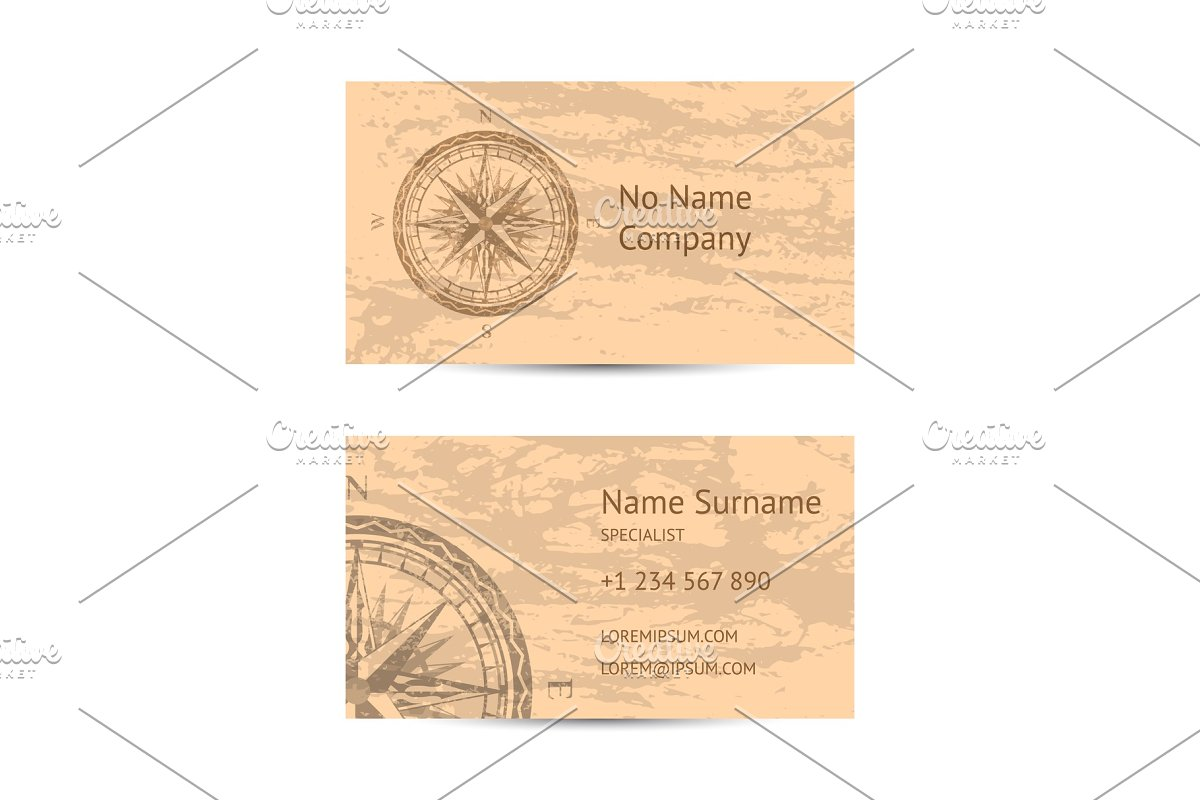 Sailing tour business card layout in Illustrations - product preview 8