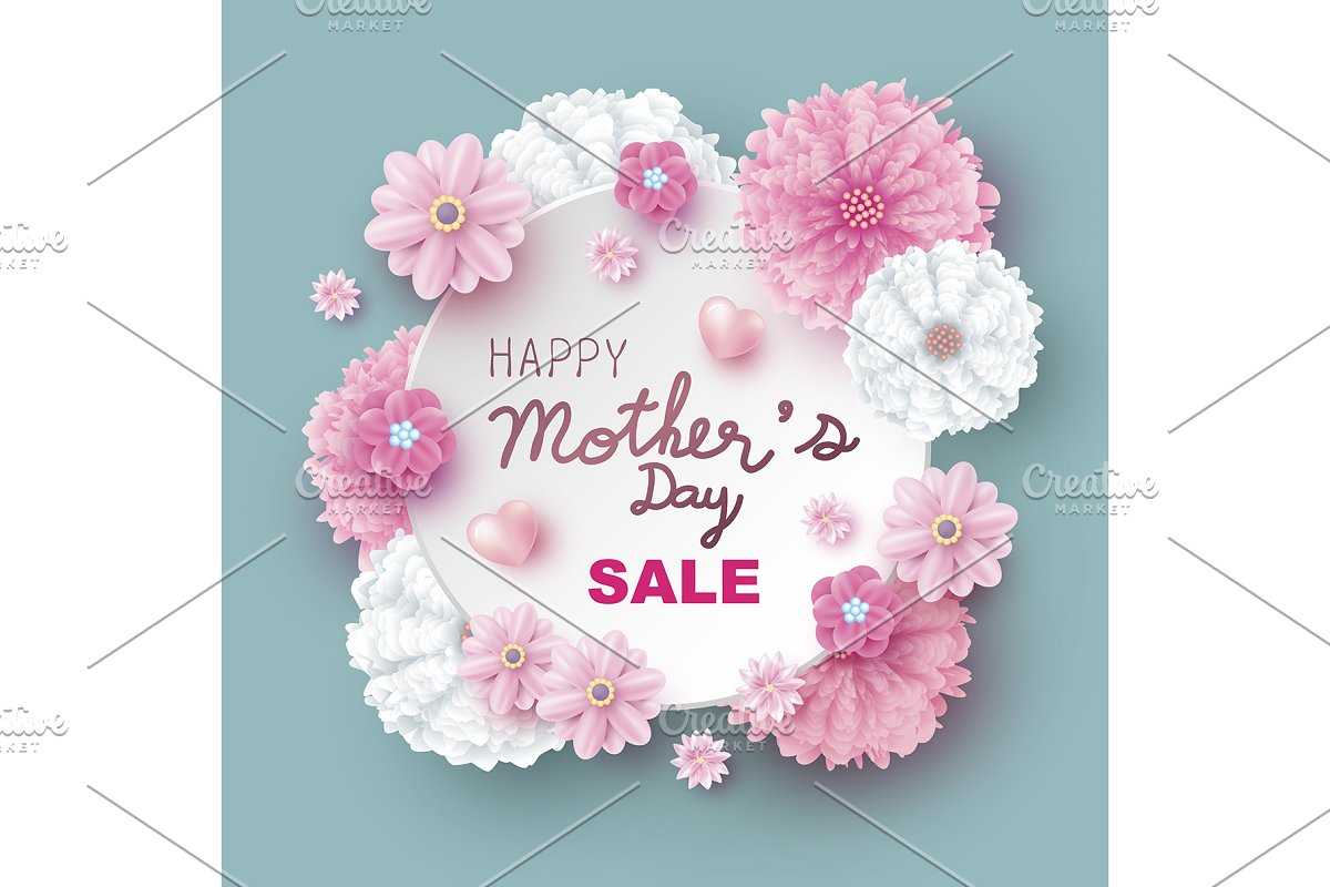 Mother's day sale design in Illustrations - product preview 8