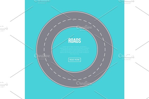 City Traffic Concept With Road Ring
