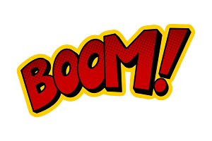 Boom word comic book pop art vector illustration