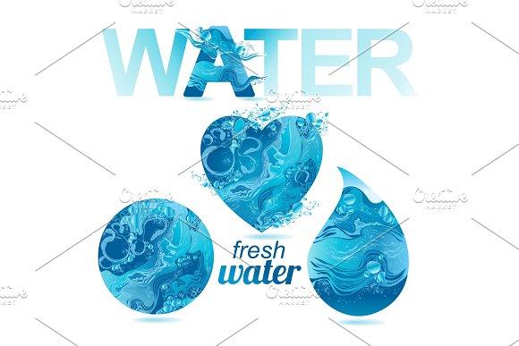 Set Of Vector Water Texture