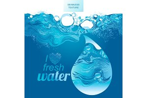 Water splash hand-drawn vector illustration