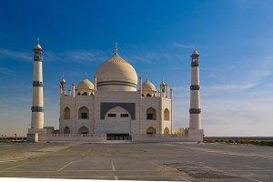 Exterior view to Friendly Fatima Zahra mosque aka copy of Taj Mahal, Kuwait