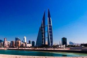 panorama cityscape view to Manama city, Bahrain