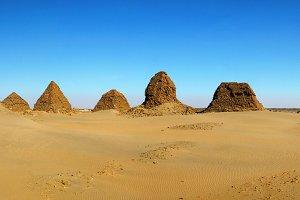 Nuri pyramids, Napata, Sudan