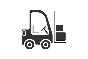 Forklift glyph icon