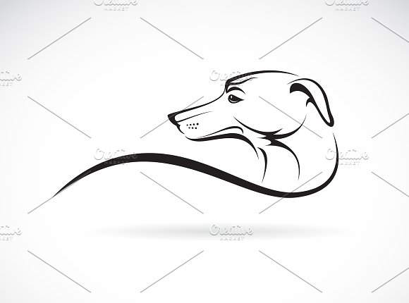 Vector Of A Dog Head Pet Animals