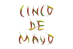 Cinco de Mayo pepper letters