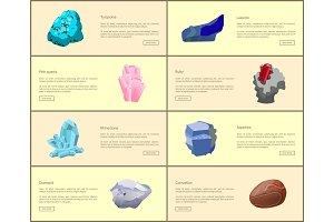 Turquoise Carnelian Lazurite Quartz Ruby Diamond