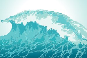 Water splash hand-drawn vector illustration