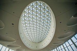 Interior of futuristic roof