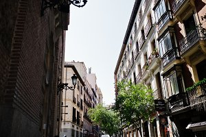 Buildings at streets of Madrid.