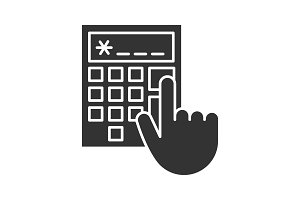 Calculator glyph icon
