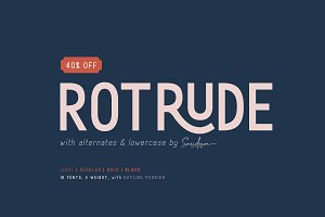 Rotrude Sans (16 FONTS) - 40% OFF