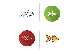 Aquarium goldfish icon
