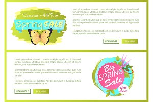 Spring Sale Poster Discount -45 Colorful Butterfly