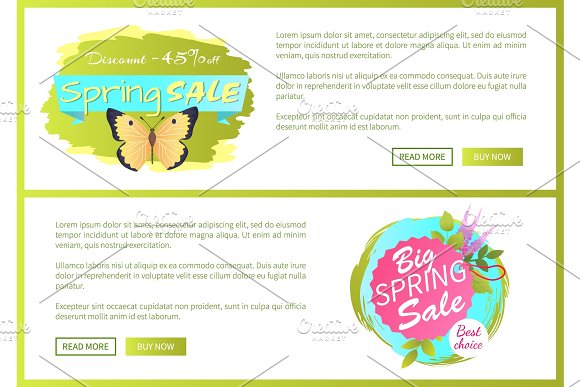 Spring Sale Poster Discount 45 Colorful Butterfly