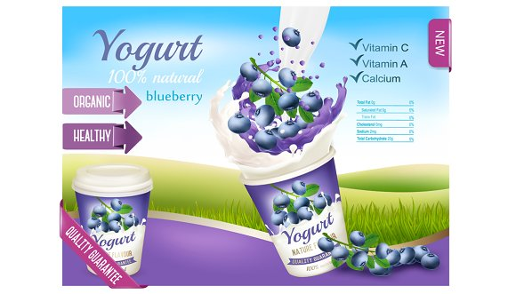 Fruit Yogurt With Blueberries