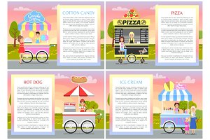 Cotton Candy Pizza Hot Dog and Ice Cream Stands