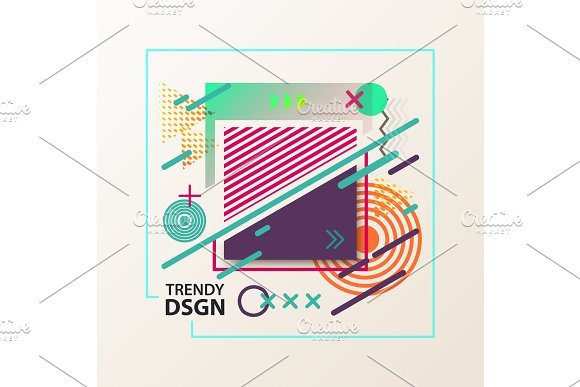 Simple Geometric Cover Design With Shapes