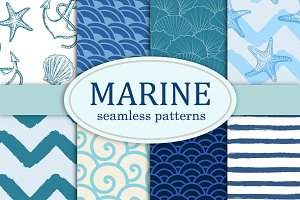 Marine patterns collection