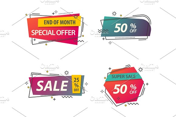 Linear Or Geometric Tags For Discounts