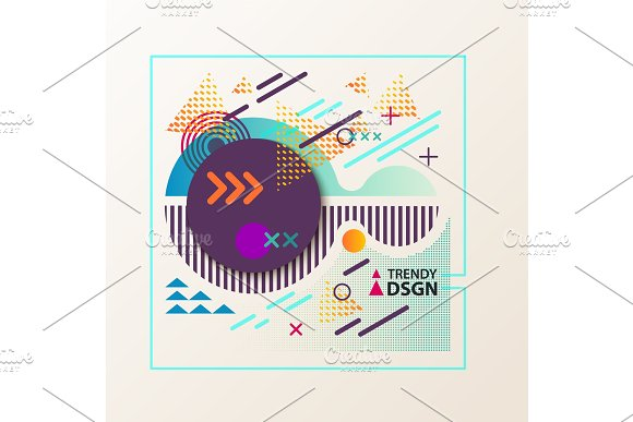Abstract Geometric Shapes For Modern Design