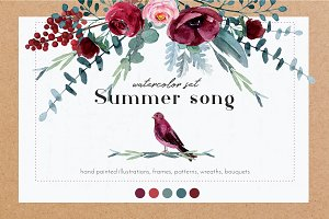 Summer song - graphic set