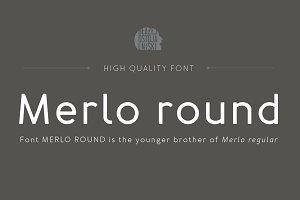 Merlo Round Family Font