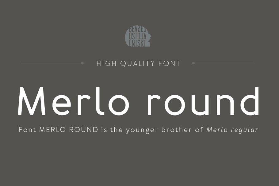 Best Merlo Round Family Font Vector