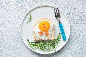 Food art chicken sandwich for kids