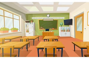 Classroom at school or college for education