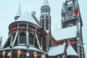 Winter Lviv city view, Ukraine