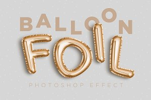 Foil Balloon Photoshop Effect