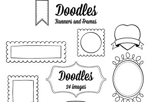 Doodle Banners and Frames.