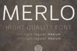 Merlo family fonts
