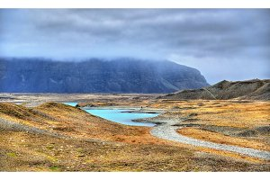 Landscape near Jokulsarlon Glacier Lagoon, Iceland