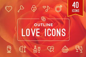 Weddings / Valentine's / Love Icons